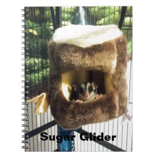 Sugar Glider in Furry Tree Truck Hanging Bed Spiral Notebook