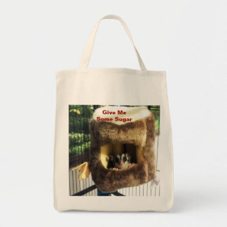 Sugar Glider in Furry Tree Truck Hanging Bed Tote Bag