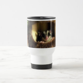 Sugar Glider in Furry Tree Truck Hanging Bed Travel Mug