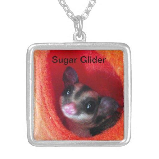 Sugar Glider in Orange Hanging Bed Custom Jewelry