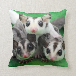 Sugar Glider Joey Trio Throw Pillow