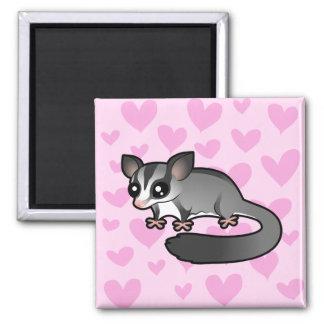 Sugar Glider Love 2 Inch Square Magnet