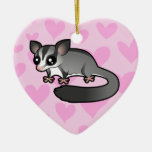 Sugar Glider Love (add your own message) Ceramic Ornament