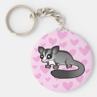 Sugar Glider Love Basic Round Button Keychain
