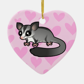 Sugar Glider Love Ceramic Ornament