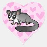 Sugar Glider Love Heart Sticker
