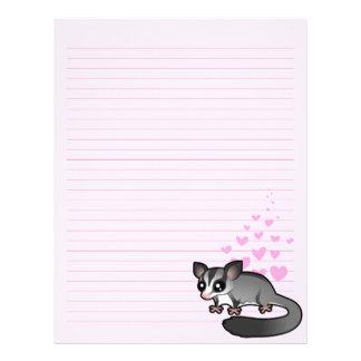 Sugar Glider Love Letterhead Template