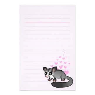 Sugar Glider Love Stationery