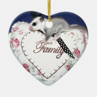 Sugar Glider Loves Family Ceramic Ornament