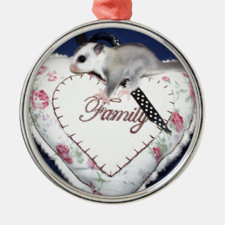 Sugar Glider Loves Family Metal Ornament