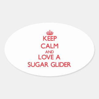 Sugar Glider Oval Sticker