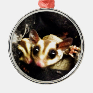 sugar glider photo design metal ornament