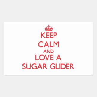 Sugar Glider Rectangular Sticker