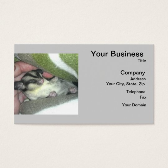 Sugar Glider Sleeping in Blanket Business Card