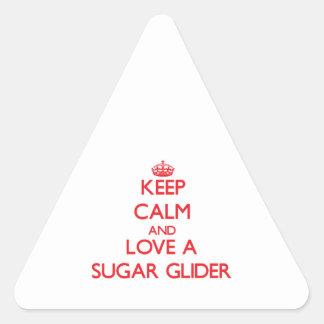 Sugar Glider Triangle Sticker