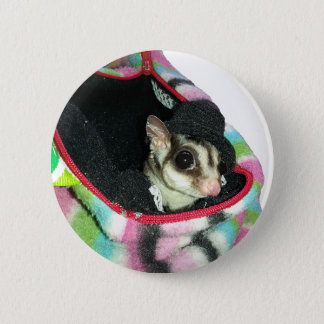 Sugar Glider Wearing a Hat Button