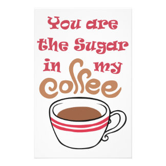 SUGAR IN MY COFFEE PERSONALIZED STATIONERY