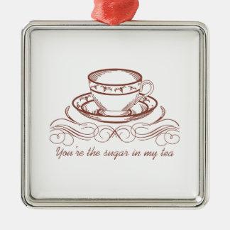 Sugar In Tea Metal Ornament