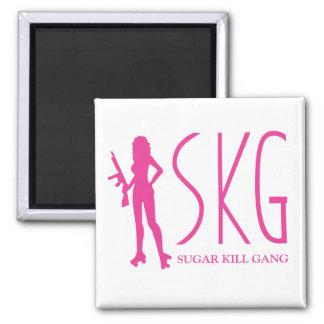 Sugar Kill Gang 2 Inch Square Magnet