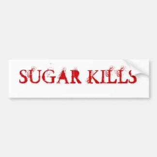 SUGAR KILLS BUMPER STICKER