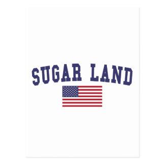 Sugar Land US Flag Postcard