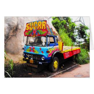 Sugar lorry card