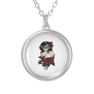 SUGAR LOVE SILVER PLATED NECKLACE