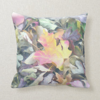 Sugar Maple and Pastel Leaves Pillow