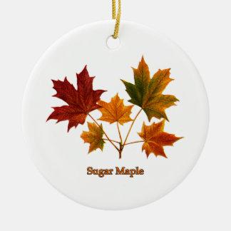 Sugar Maple Leaves Ceramic Ornament