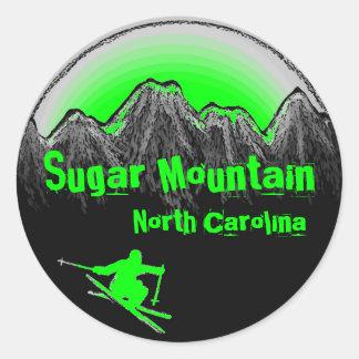 Sugar Mountain North Carolina green ski stickers