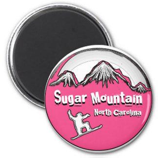 Sugar Mountain North Carolina snowboard magnet