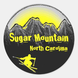 Sugar Mountain North Carolina yellow ski stickers