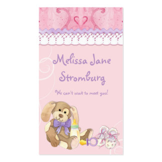 Sugar 'n Spice - Baby Shower Favor Gift Tags Double-Sided Standard Business Cards (Pack Of 100)