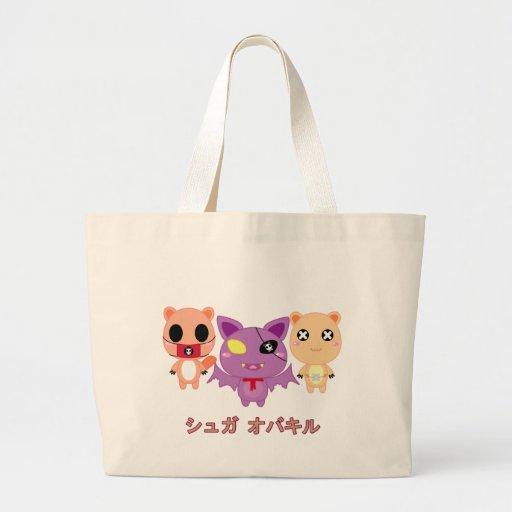 Sugar Overkill Trio 3 Canvas Bags