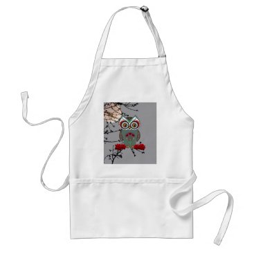 Halloween Themed Sugar Owl Adult Apron