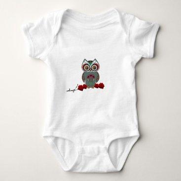 Halloween Themed Sugar Owl Baby Bodysuit