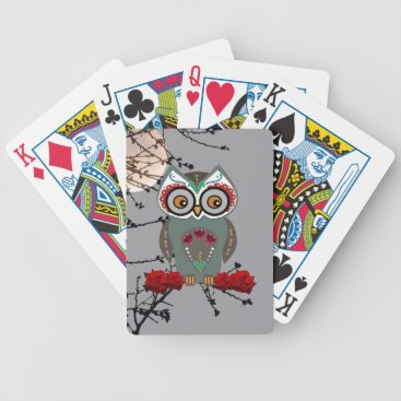 Halloween Themed Sugar Owl Bicycle Playing Cards