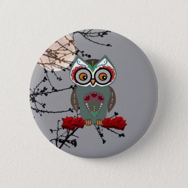 Halloween Themed Sugar Owl Button