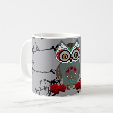Halloween Themed Sugar Owl Coffee Mug