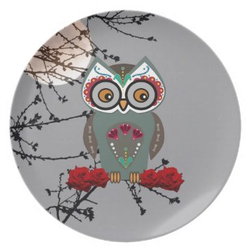 Halloween Themed Sugar Owl Dinner Plate