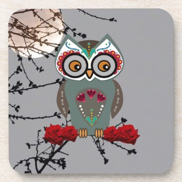 Halloween Themed Sugar Owl Drink Coaster