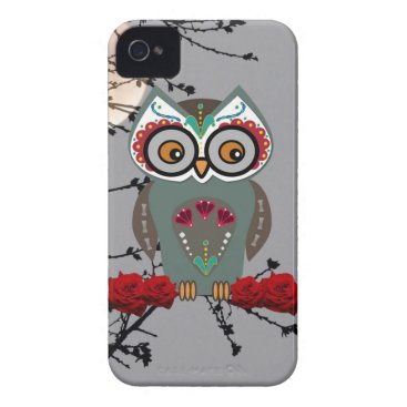 Halloween Themed Sugar Owl iPhone 4 Cover