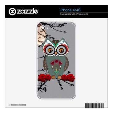 Halloween Themed Sugar Owl iPhone 4S Skin