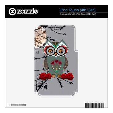 Halloween Themed Sugar Owl iPod Touch 4G Skin