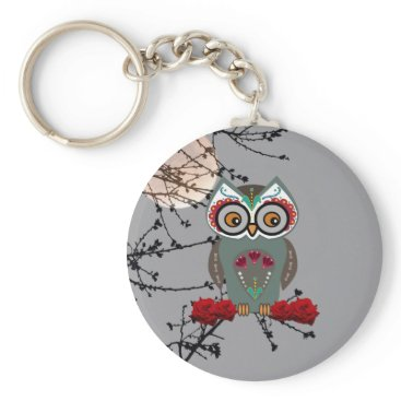 Halloween Themed Sugar Owl Keychain