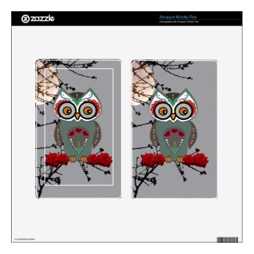 Halloween Themed Sugar Owl Kindle Fire Decal