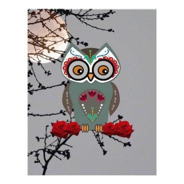 Halloween Themed Sugar Owl Letterhead