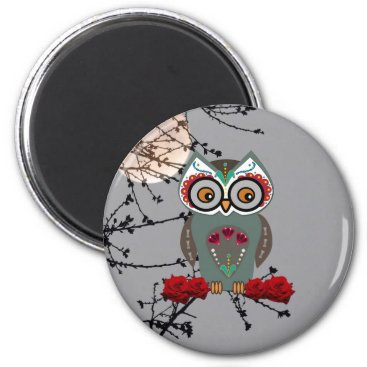 Halloween Themed Sugar Owl Magnet