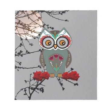 Halloween Themed Sugar Owl Notepad