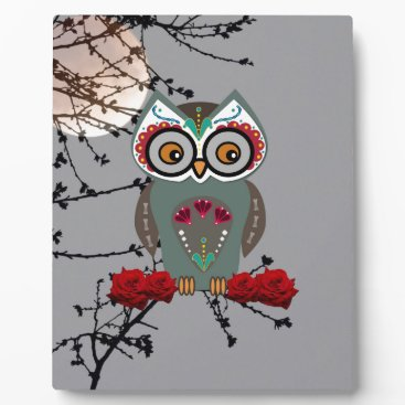 Halloween Themed Sugar Owl Plaque